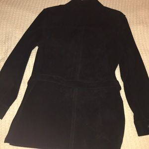 Lord & Taylor Jackets & Coats - SZ S Black suede belted jacket